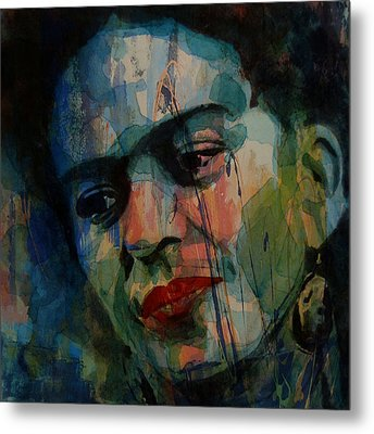 Frida Kahlo Colourful Icon  Metal Print by Paul Lovering