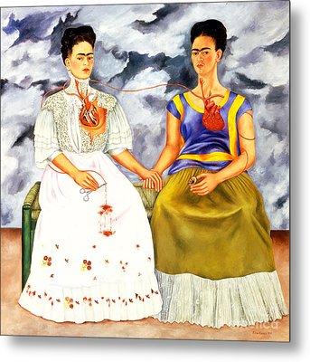 Frida Kahlo The Two Fridas Metal Print