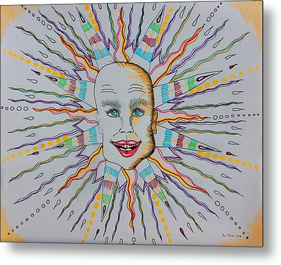 Friday 13th Sun Metal Print by Ru Tover
