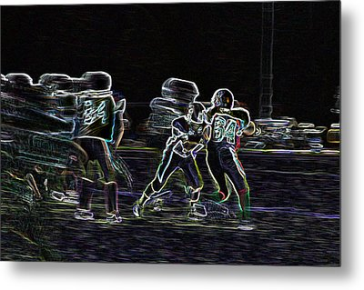 Friday Night Under The Lights Metal Print by Chris Thomas