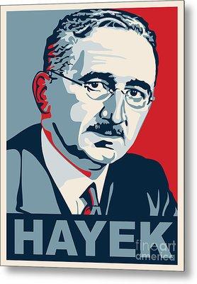 Friedrich Hayek Metal Print