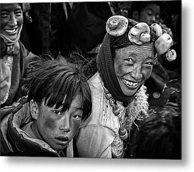 Friendly Villagers Metal Print