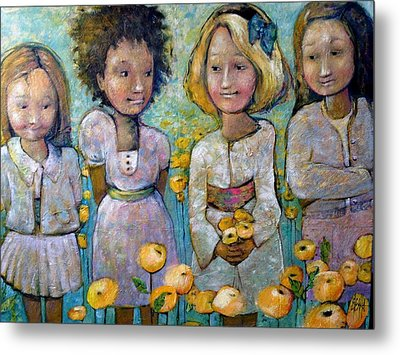 Metal Print featuring the painting Friends by Eleatta Diver