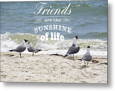 Metal Print featuring the photograph Friends In Life by Jan Amiss Photography
