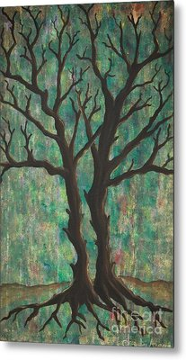 Metal Print featuring the painting Friends by Jacqueline Athmann