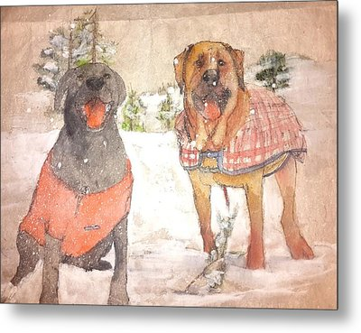 Friends Together Weather Winter Metal Print