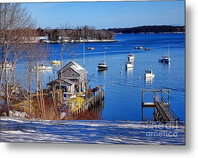 Metal Print featuring the photograph Friendship Harbor In Winter by Olivier Le Queinec