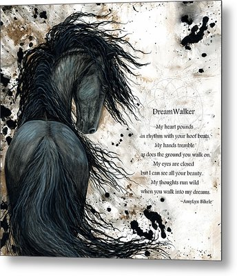Friesian Dreamwalker Horse Metal Print