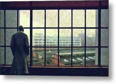 Frits Is Overlooking His Philips Plants In Eindhoven Metal Print by Nop Briex