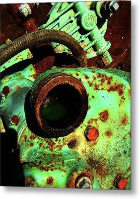 Metal Print featuring the photograph Frog by Cyryn Fyrcyd