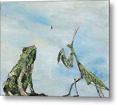 Frog Fly And Mantis Metal Print by Fabrizio Cassetta