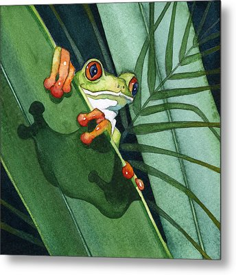 Frog Ready To Leap Metal Print by Lyse Anthony