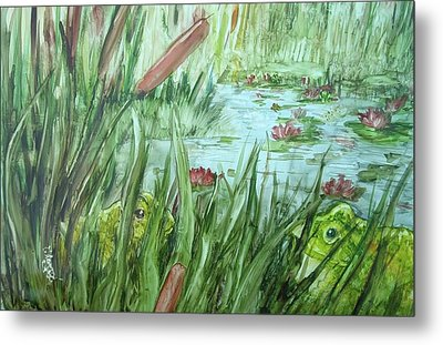Frog Went A-courtin Metal Print