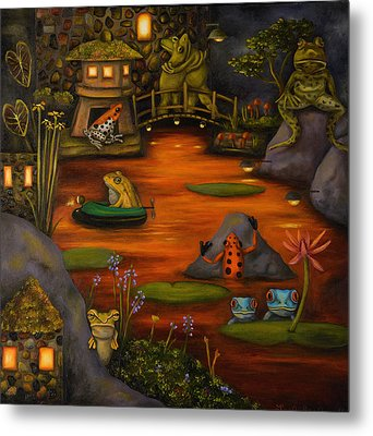 Frogland 2 Metal Print by Leah Saulnier The Painting Maniac