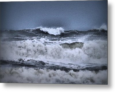 Metal Print featuring the photograph Frolicsome Waves by Jeff Swan