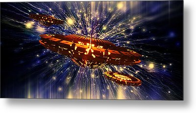 From Another Dimension By Raphael Terra Metal Print