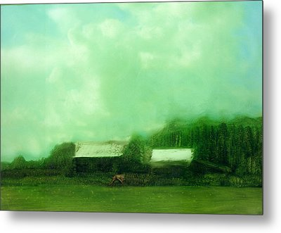 Metal Print featuring the painting From Ground To Sky by FeatherStone Studio Julie A Miller