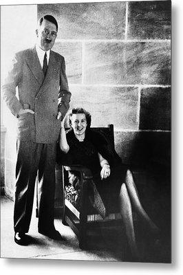 From Left, Adolf Hitler, Eva Braun Metal Print