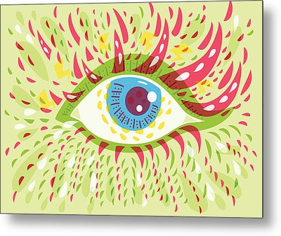 From Looking Psychedelic Eye Metal Print by Boriana Giormova