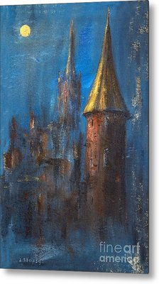 Metal Print featuring the painting From Medieval Times by Arturas Slapsys