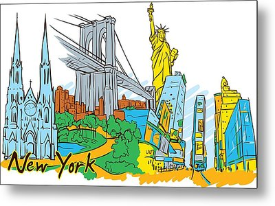 From Old To New York Metal Print by Stanley Mathis
