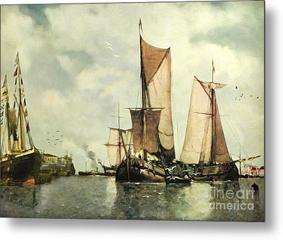From Sail To Steam - Transitions Metal Print by Lianne Schneider