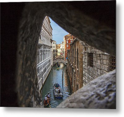 From The Bridge Of Sighs Venice Italy Metal Print