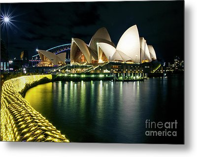 From The Other Side - Sydney Opera House - Vivid Sydney Metal Print