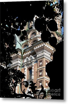 Metal Print featuring the photograph From The Park by Robert D McBain