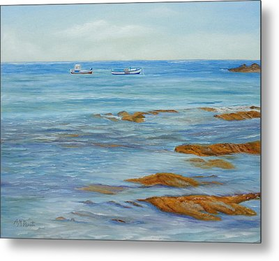 From The Shore Metal Print by Angeles M Pomata