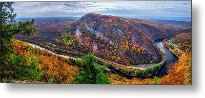 Metal Print featuring the photograph From The Top Of Mount Tammany by Mark Papke
