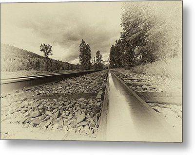 Metal Print featuring the photograph From The Track Antique by Darcy Michaelchuk