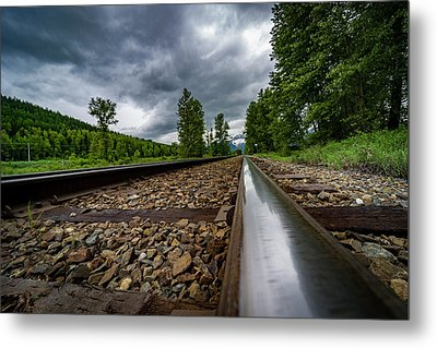 Metal Print featuring the photograph From The Track by Darcy Michaelchuk
