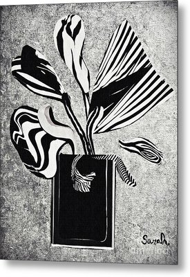 From The Zebras Garden Metal Print