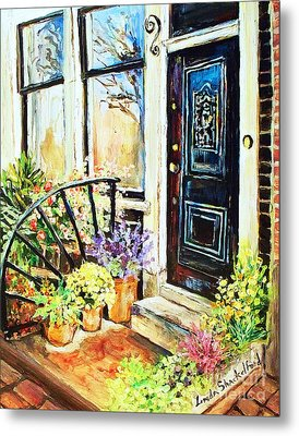 Front Porch Metal Print by Linda Shackelford