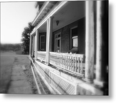 Front Porch Secrets Metal Print by Terry  Wiley