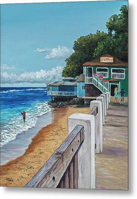 Metal Print featuring the painting Front Street Lahaina by Darice Machel McGuire