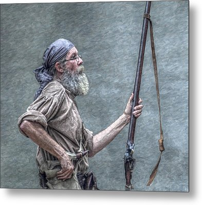 Frontiersman Face Of Time Metal Print by Randy Steele