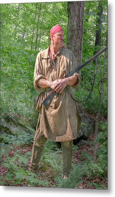 Frontiersman Scout    Metal Print by Randy Steele