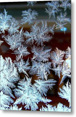 Frost Design Metal Print by Shirley Sirois