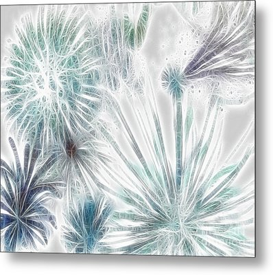 Metal Print featuring the digital art Frosted Abstract by Methune Hively