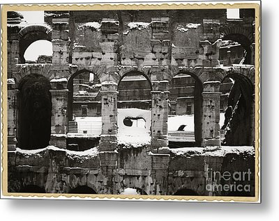 Frosted Colosseum In Rome Metal Print by Stefano Senise