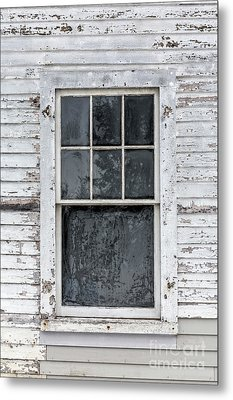 Frosted Window On An Old House Metal Print