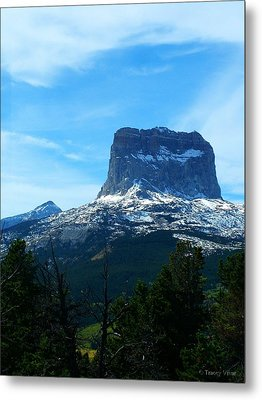 Frosty Chief Mountain Metal Print