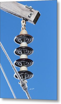Metal Print featuring the photograph Frosty Industrial Insulator by Bill Kesler