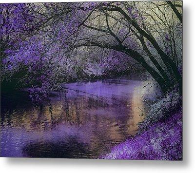 Frosty Lilac Wilderness Metal Print