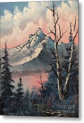 Frosty Mountain  Metal Print by Paintings by Justin Wozniak