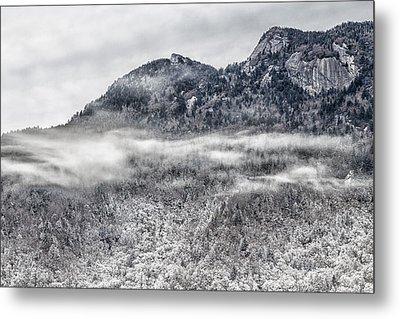 Snowy Grandfather Mountain - Blue Ridge Parkway Metal Print
