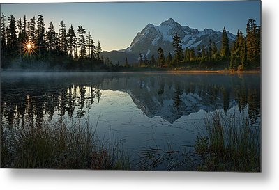 Metal Print featuring the photograph Frosty Picture Lake by Dan Mihai