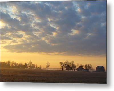 Frosty Spring Sunrise Metal Print